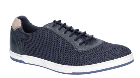 Base London Hustle Mesh Lace Up Trainer Navy