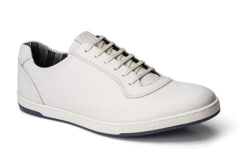 Base London Hustle Softy Lace Up Trainer White