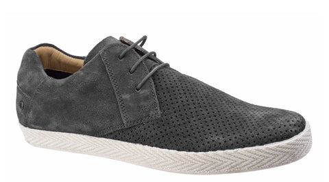 Base London Keel Suede Mens Espadrille Style Lace Up Casual Shoe