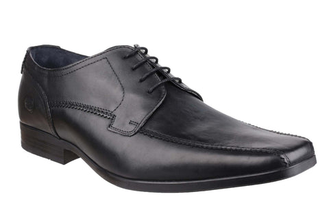 Base London Lytham Excel Mens Lace Up Formal Shoe Black Waxy