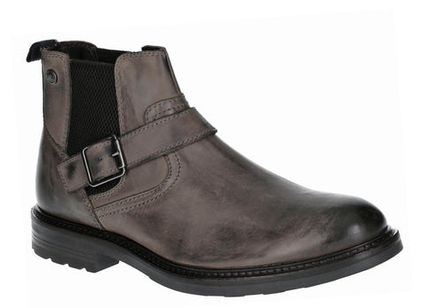 Base London Morrow Burnished Chelsea Boot GREY