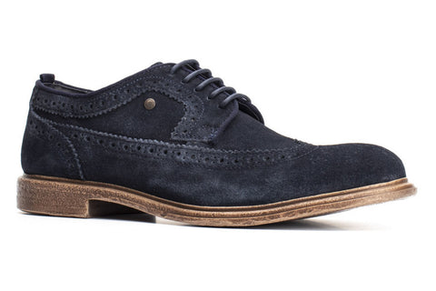 Base London Onyx Mens Suede Brogue Shoe