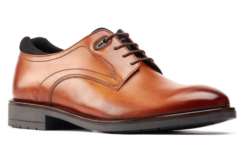 Base London Osprey Plain Toe Derby Shoe Tan