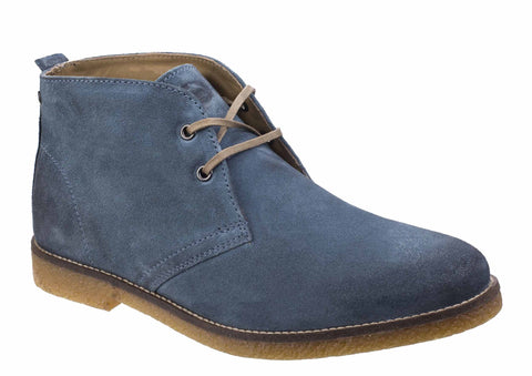 Base London Perry Burnished Suede Mens Lace Up Desert Boot