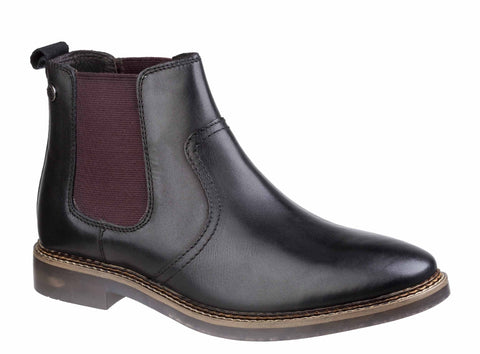 Base London Piper Waxy Chelsea Boot BLACK
