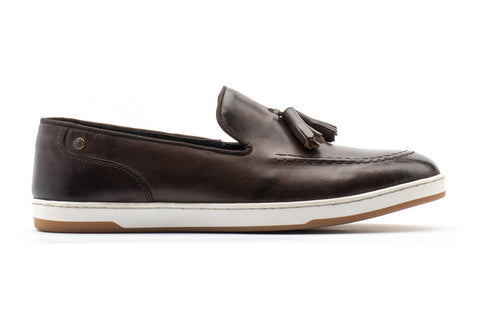 Base London Pogo Burnished Mens Tassle Loafer