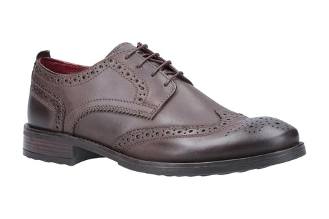 Base London Porter Burnished Mens Brogue Shoe