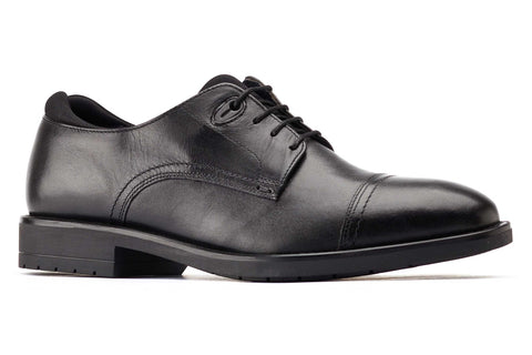 Base London Raven Cap Toe Derby Shoe Black