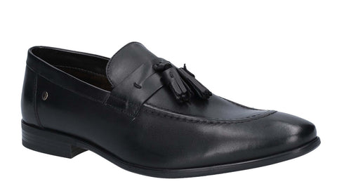 Base London Ritz Waxy Loafer BLACK