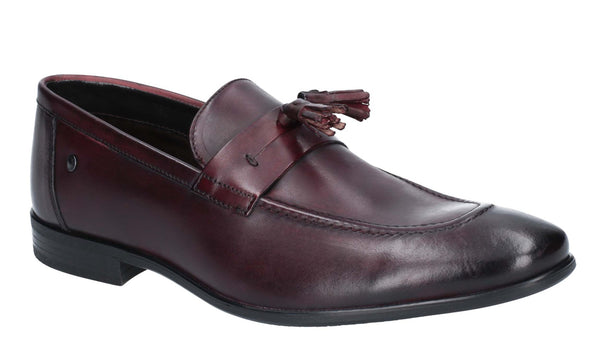 Base London Ritz Burnished Loafer Bordo