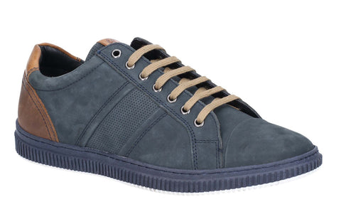 Base London Rubix Softy Lace Up Trainer Navy