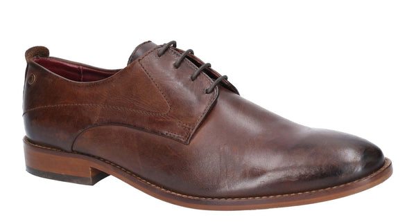 Base London Script Washed Lace Up Shoe Brown