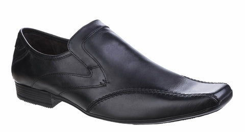 Base London Sphere Excel Waxy Mens Slip On Formal Shoe Black Waxy