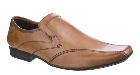 Base London Sphere Excel Waxy Mens Slip On Formal Shoe Tan Waxy