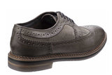 Base London Turner Mens Leather And Suede Brogue Detail Shoe