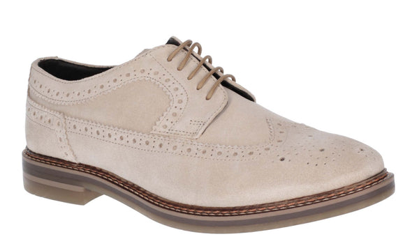 Base London Turner Mens Suede Leather Brogue Detail Shoe