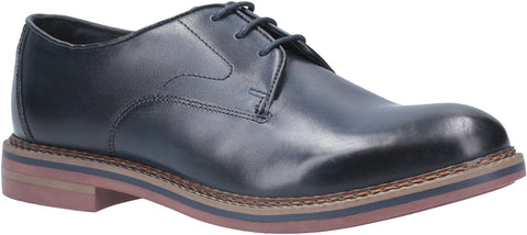 Base London Wayne Burnished Lace Up Shoe Navy