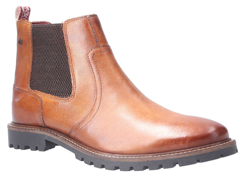 Base London Wilkes Washed Pull On Chelsea Boot Tan