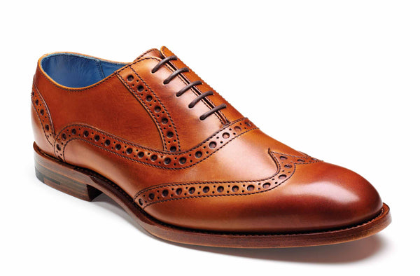 Barker Grant 3372 Mens Oxford Style Full Brogue Lace Up Formal Shoe Cedar 26F
