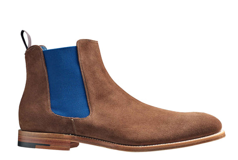 Barker Hopper 3973 Mens Pull On Formal Chelsea Boot Castagne S 96F