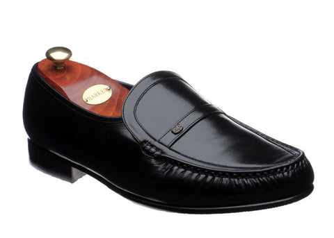 Barker Jefferson 8492 Mens Wide Fit Slip On Moccasin Style Formal Shoe Black 17 G