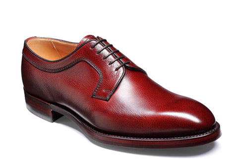 Barker Skye 3988 Mens Derby Style Plain Toe Lace Up Country Shoe Cherry Grain 76F