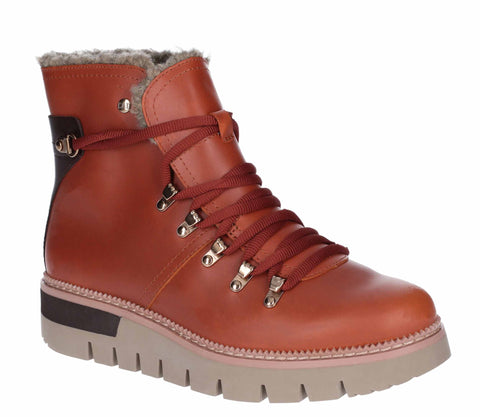 Caterpillar Attention Fur Womens Waterproof Lace Up Casual Boot