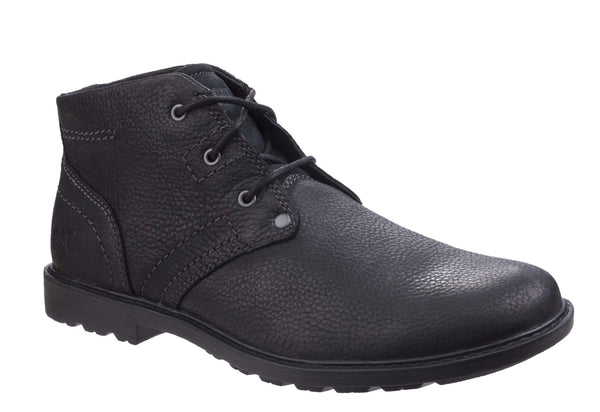 Caterpillar Carsen Mid Mens Lace Up Derby Style Casual Boot Black