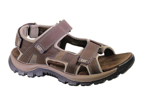 Caterpillar Giles Mens Touch Fastening Sandal Dark Brown