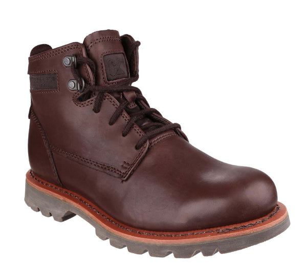 Caterpillar Rockwell Mens Rugged Lace Up Boot Coffee