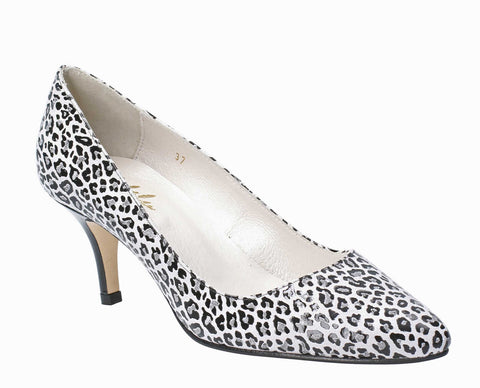 Cefalu Isa Womens Animal Print Suede Dress Court Shoe
