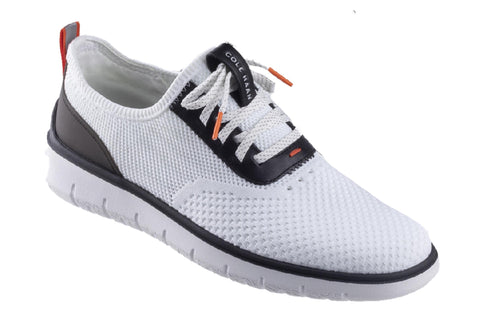 Cole Haan Generation Zerogrand Stitchlite Lace Up Shoe Optic White Knit/T