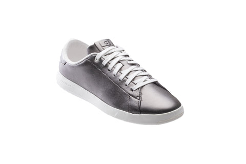 Cole Haan Womens GrandPro Tennis Metallic Lace Up Trainer