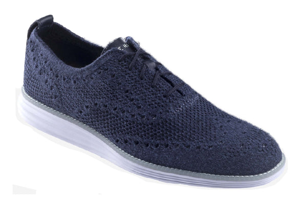 Cole Haan OG Grand Stitchlite Wing Lace Up Shoe Navy Ink/True Blue