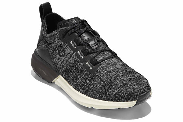 Cole Haan Zerogrand Allday Lace Up Trainer Black/Gunmetal Knit
