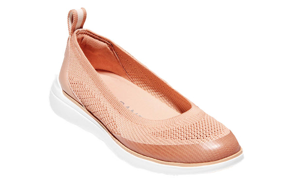 Cole Haan Zerogrand Global Slip On Trainer Mahogany Rose/Rose Gold/White