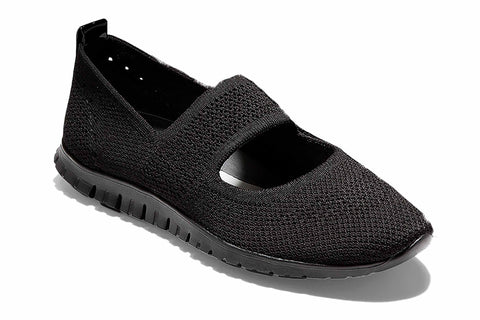 Cole Haan Zerogrand Stitchlite Cut Out Slip On Shoe Black Knit/Black