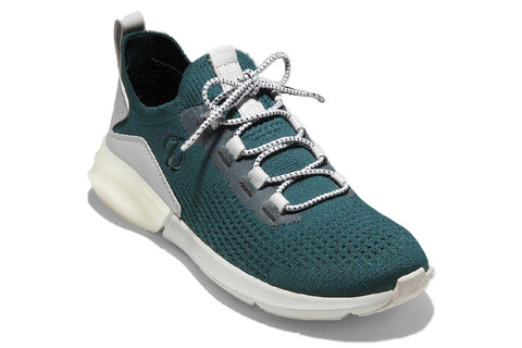 Cole Haan Zerogrand Stitchlite Lace Up Runner Deep Teal/Optic