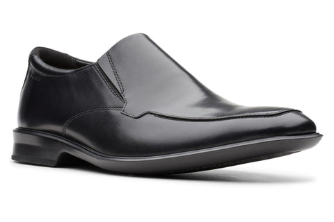Clarks Bensley Step Mens Slip On Shoe Black Leather