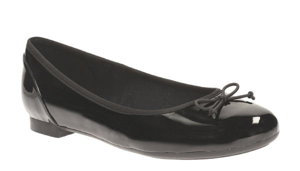 Clarks Couture Bloom Slip On Shoe Black Patent