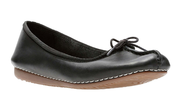 Clarks Freckle Ice Slip On Shoe Black