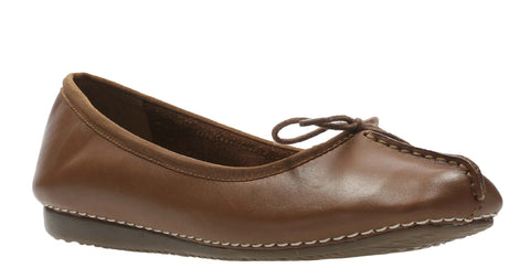 Clarks Freckle Ice Slip On Shoe Dark Tan