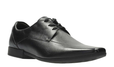 Clarks Glement Over Lace Up Shoe Black