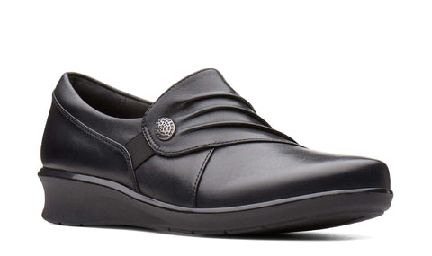 Clarks Hope Roxanne Slip On Shoe Black