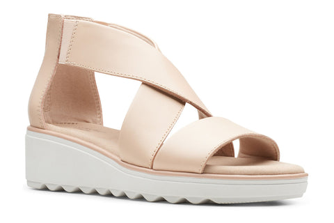 Clarks Jillian Rise Ladies Wedge Sandal Blush