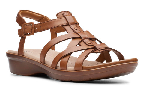 Clarks Loomis Katey Womens Strappy Leather Sandal