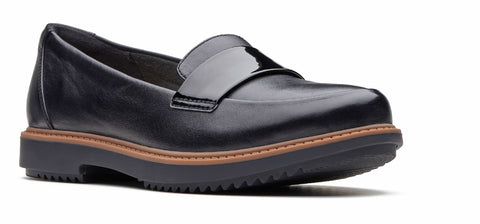 Clarks Raisie Arlie Slip On Shoe Black