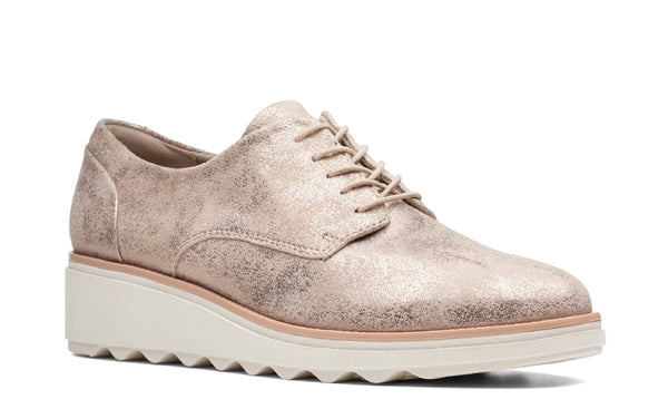 Clarks Sharon Crystal Lace Up Shoe Pewter