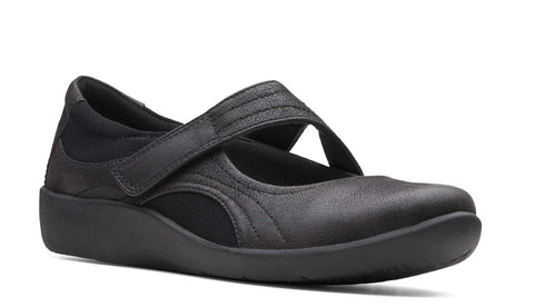 Clarks Sillian Bella Touch Fastening Shoe Black