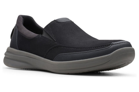 Clarks Step Stroll Edge Mens Slip On Shoe Black